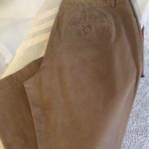 Women's pants. Brown 4 pocket. Size 12. 2% spandex